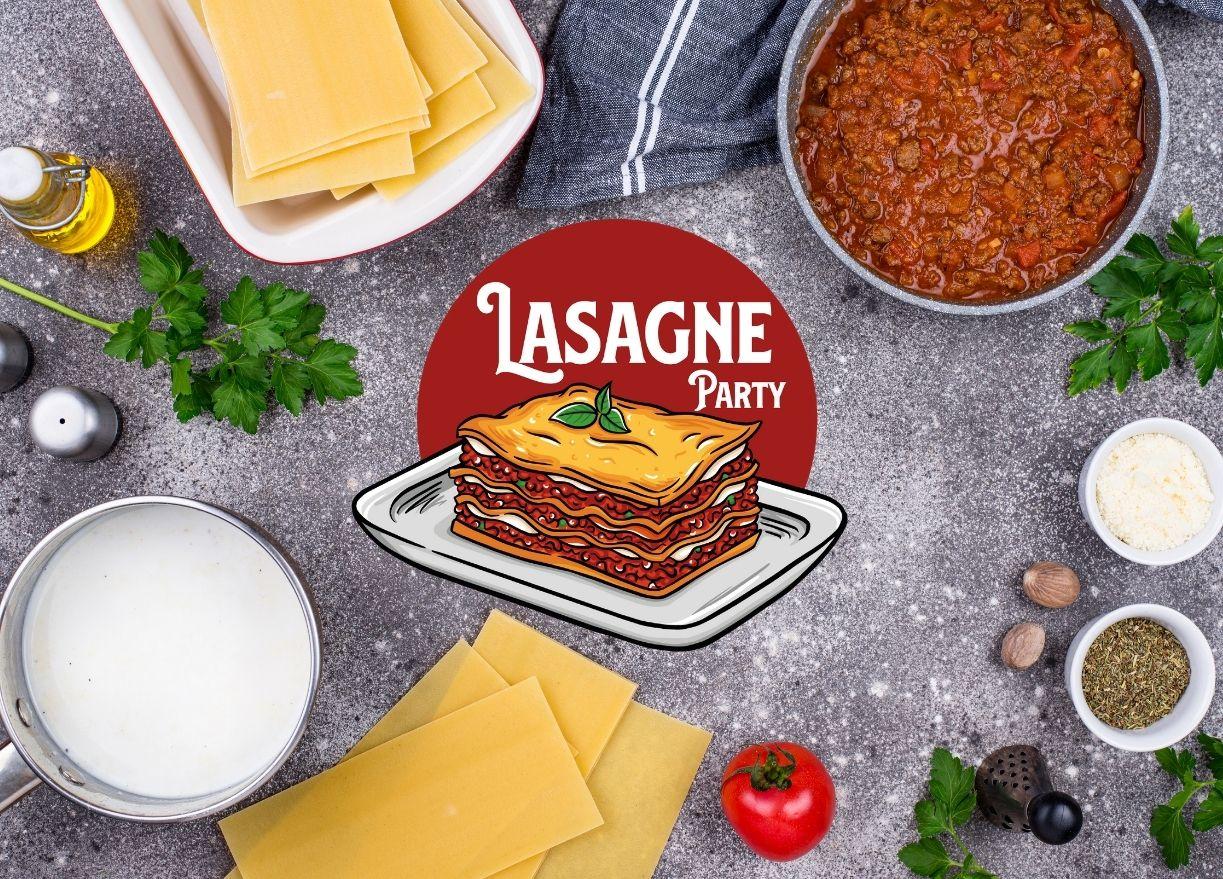 Mise en scène du logo pour lasagnerie