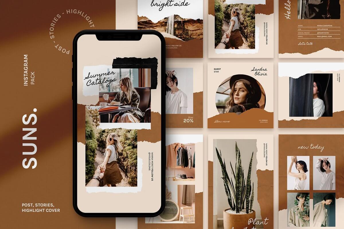 pack de visuels pour réseaux sociaux