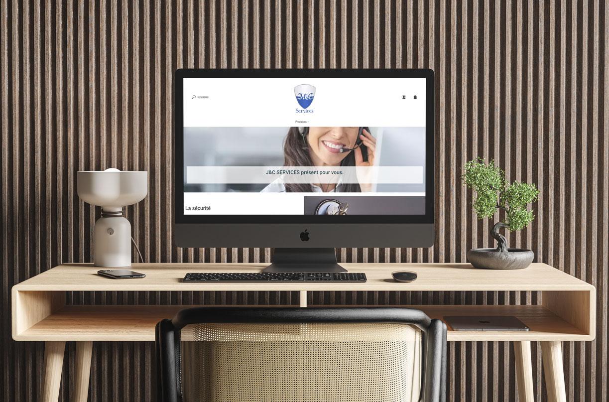 Présentation de la page d'accueil du site internet d'un plombier