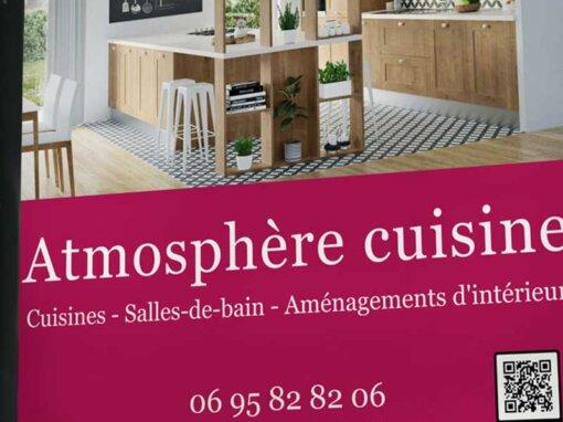Panneau publicitaire extérieur – Atmosphère Cuisine