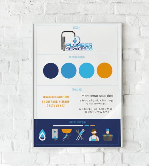 Charte graphique plomberie services 83
