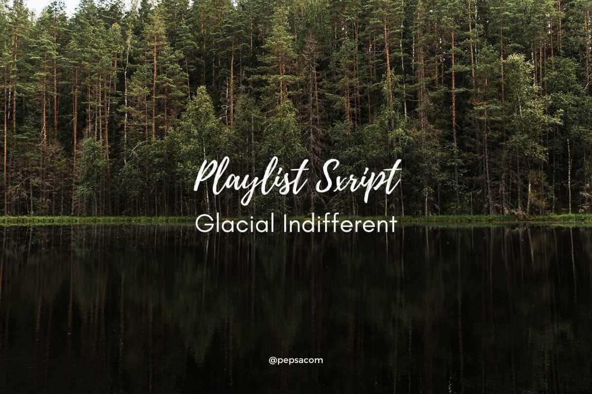 playlist script typographie