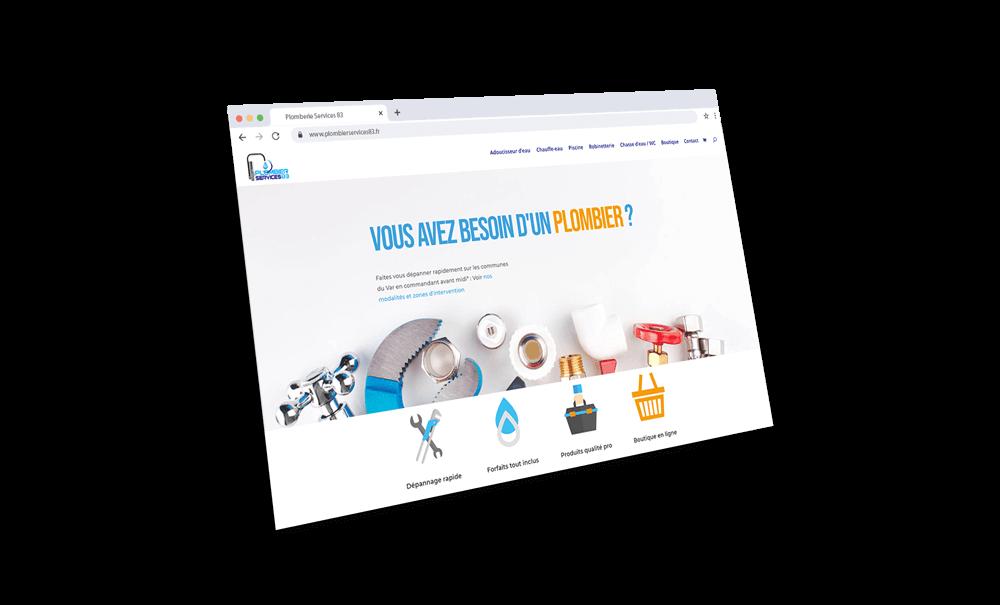 Mockup d'une page de site web