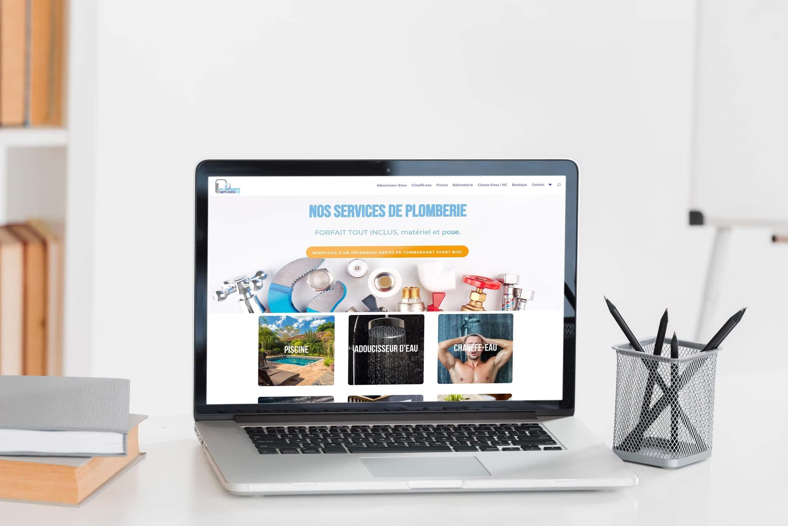 Boutique e-commerce site web plomberie