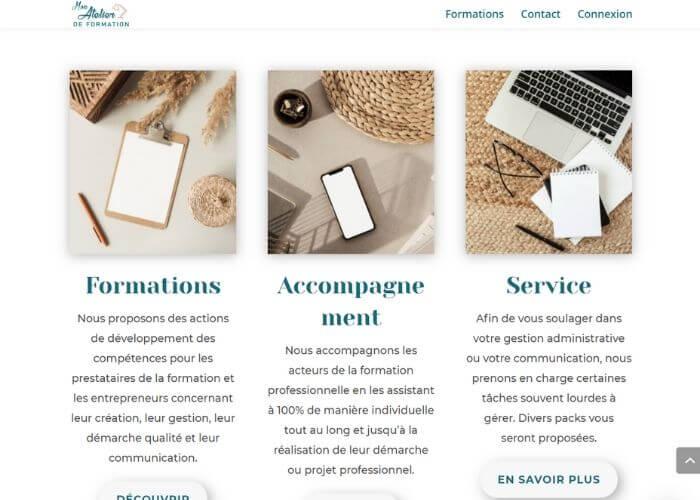 Site internet Mon Atelier De Formation