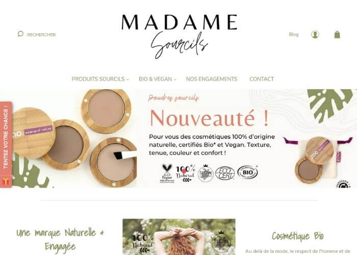 Site e-commerce Madame Sourcils