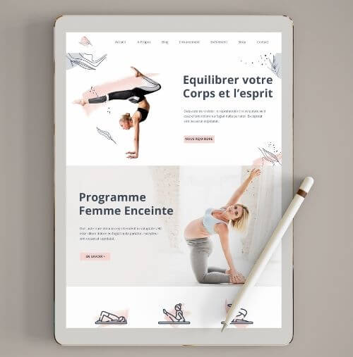 Site internet responsive yoga