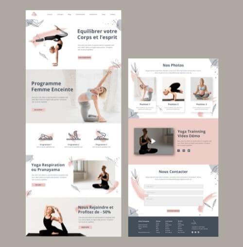 Modèle site web yoga