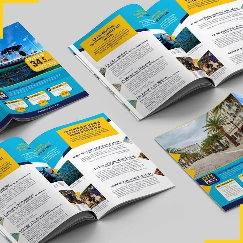 Création et impression de votre brochures, dépliants et même flyers