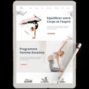 Site internet worpdress de yoga
