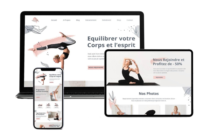 Présentation site internet yoga