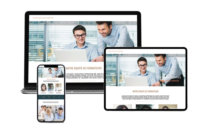Présentation site internet pour organisme de formation