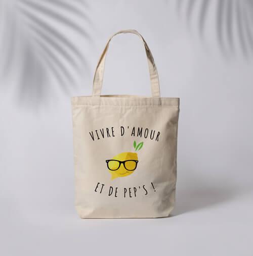 Tote Bag Summer Citron - Noir et Jaune
