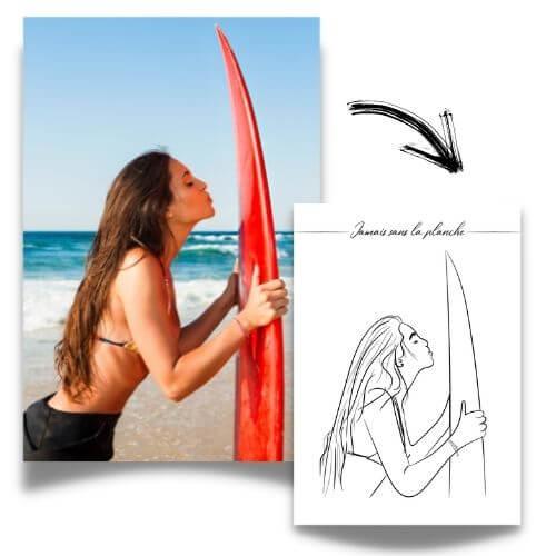 Exemple photo et illustration